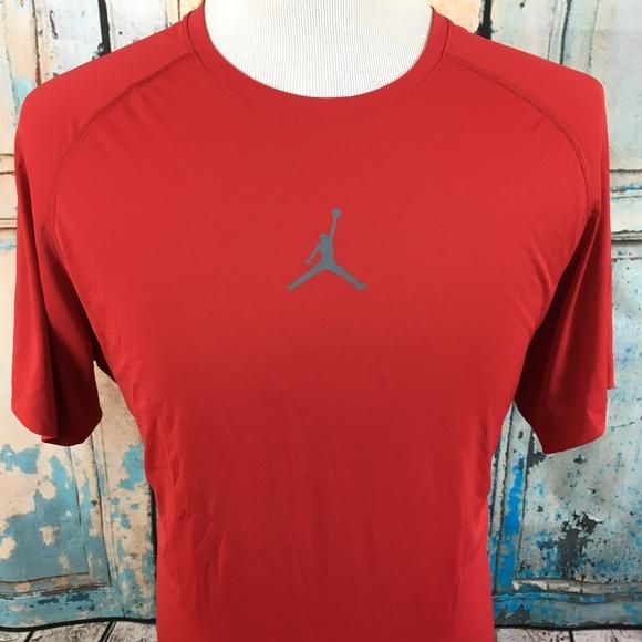 6015770746b Jordan Shirts   Training Drifit Fitted Red Jumpman Tshirt   Poshmark